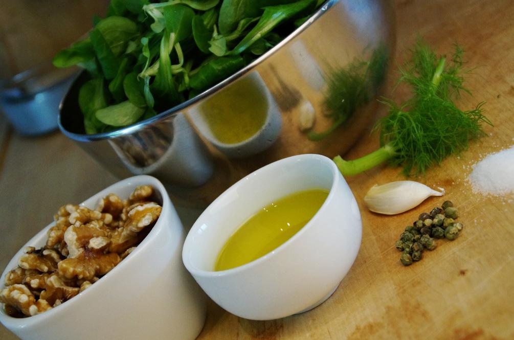 Feldsalat Walnuss Pesto Zutaten