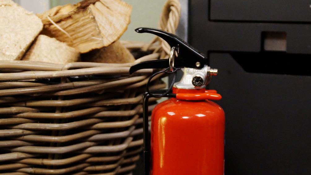 Richtig Heizen - Feuerlöscher im Haus