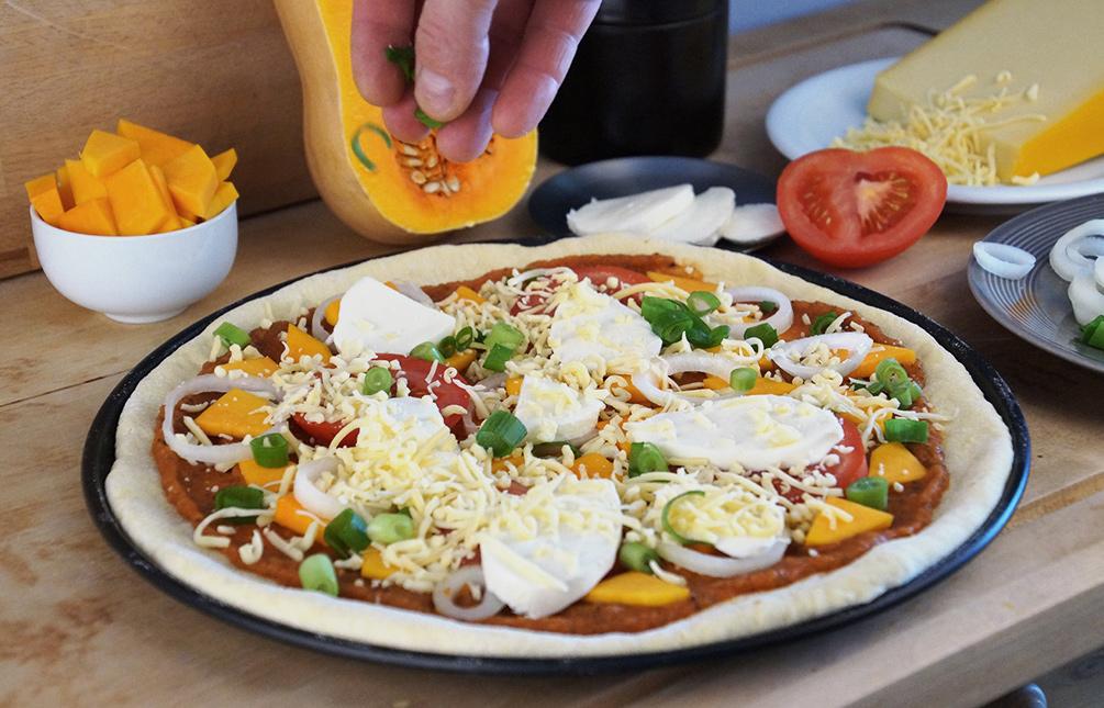 Kürbis Pizza